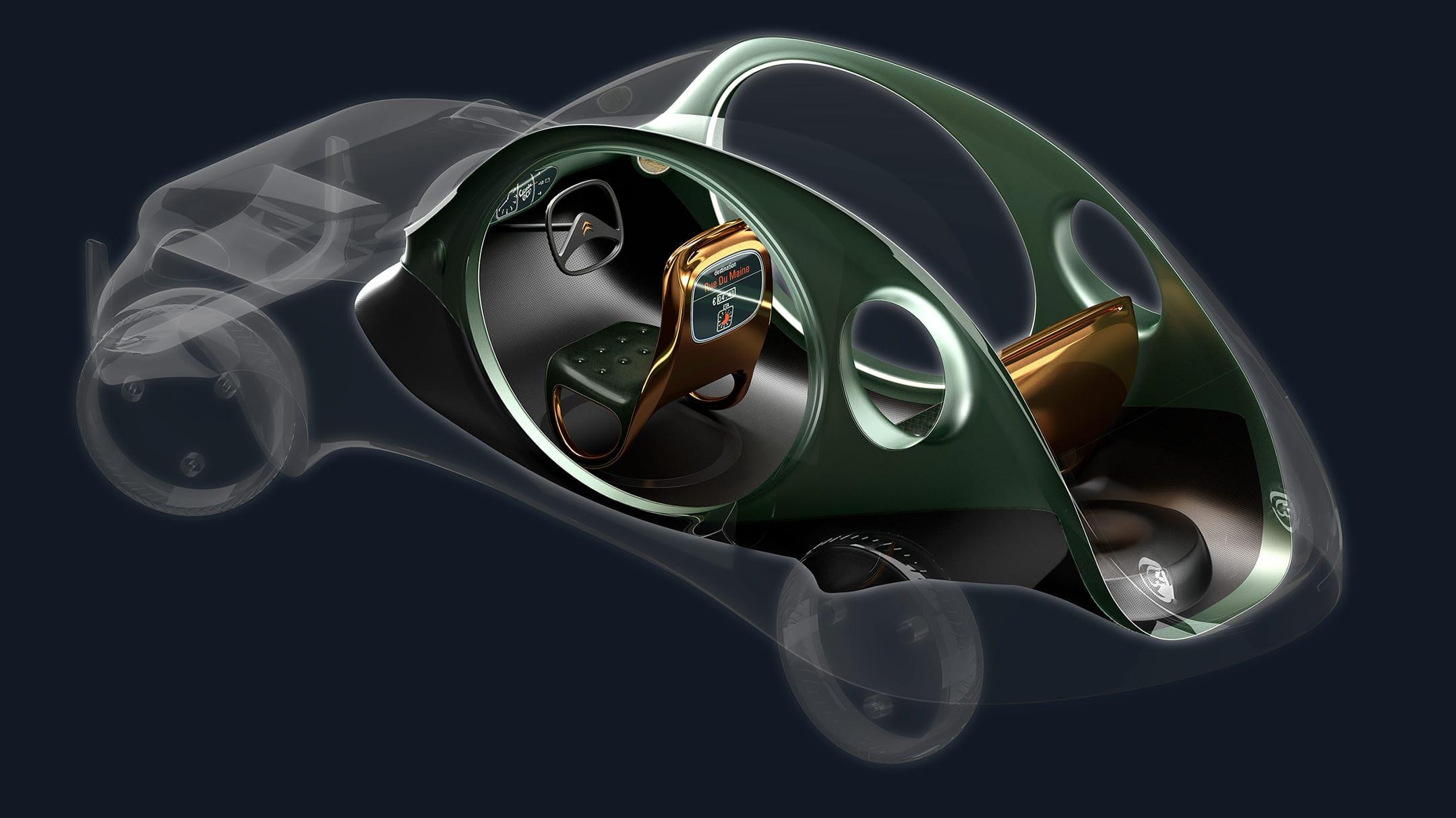 Citroen eCV Taxi cutaway