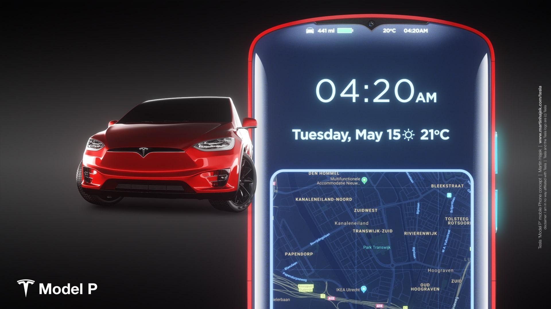 Tesla Model P phone concept