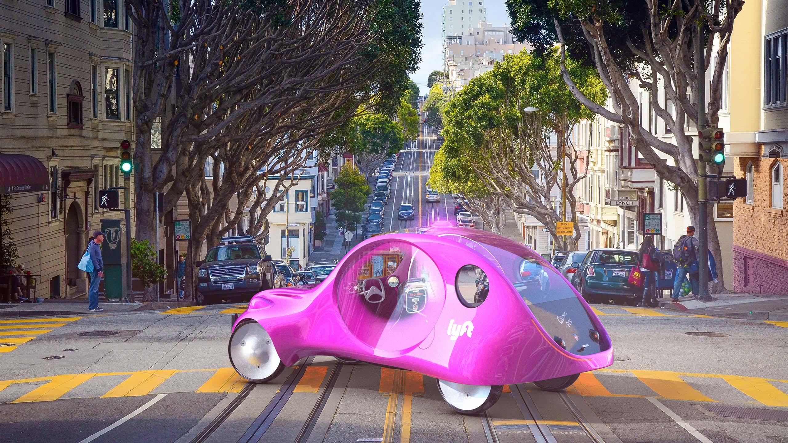 Lyft Citroën eCV taxi concept