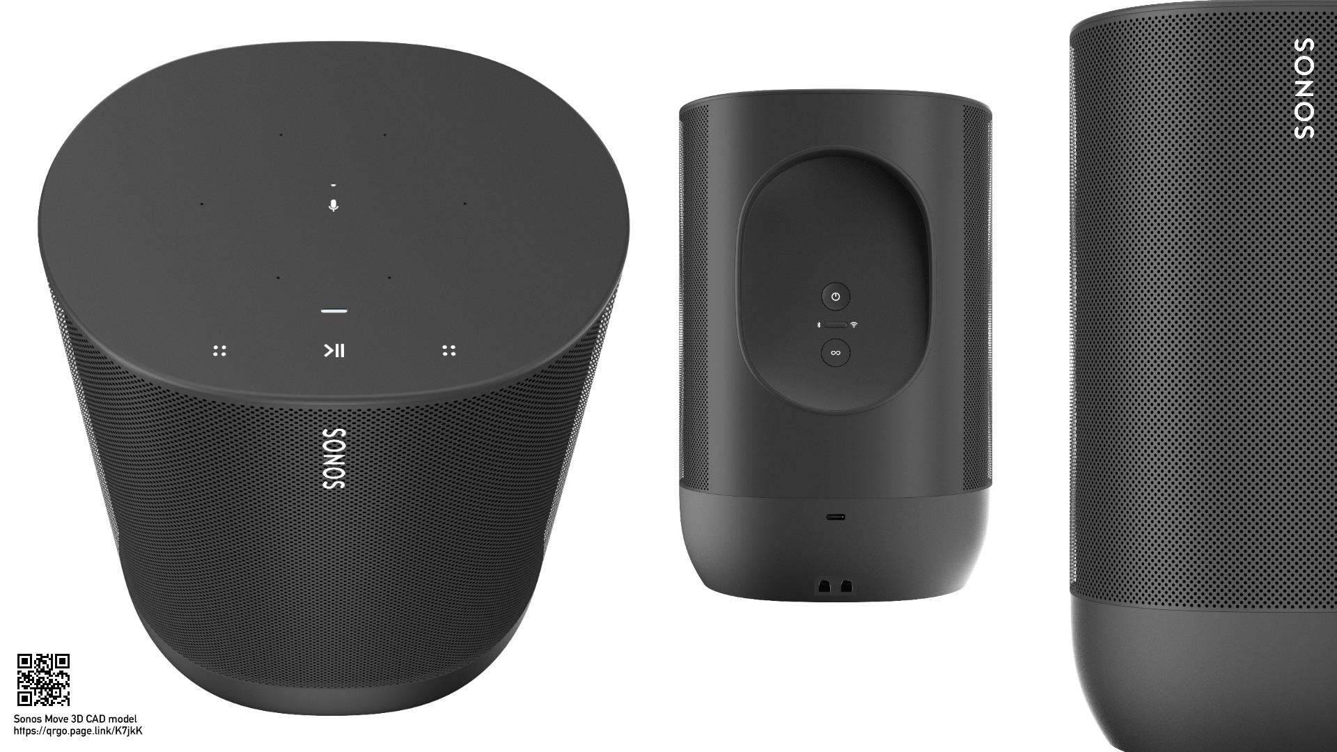 Sonos Move - 3D CAD speaker model