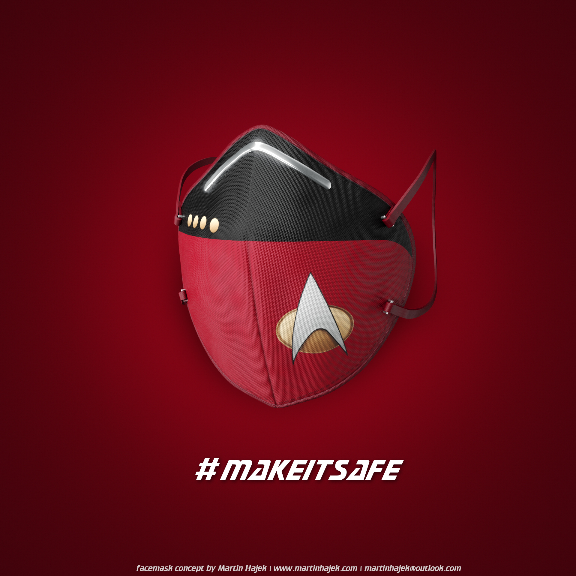 Star Trek face masks concept